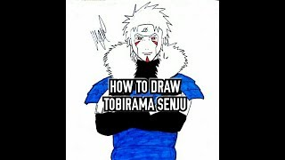 HOW TO DRAW TOBIRAMA SENJU (HOKAGE 2)