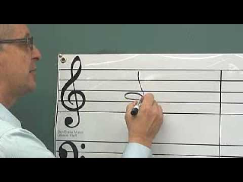 Dry Erase Classroom Grand Staff for Music