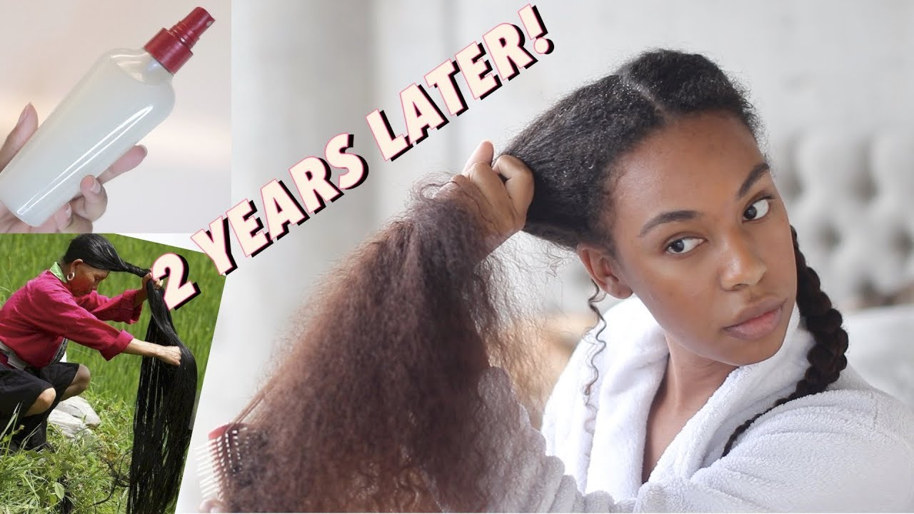 Overnight Rice Water Spray for Fast Hair Growth! 2 years of using Rice Water on Natural Hair!