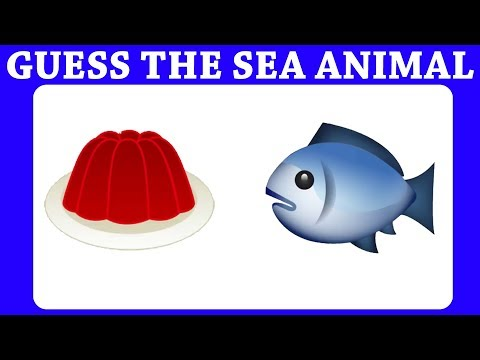 Can You Guess The SEA ANIMALS From The Emojis Challenge ! Riddles ! Picture Puzzle ! Brain Puzzle