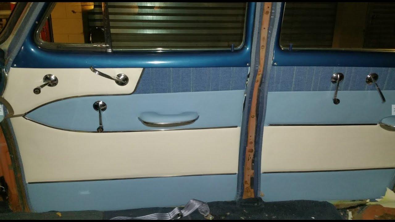 1953 Chevy Bel Air 4 Doors Restoration Doors Upholstery Youtube