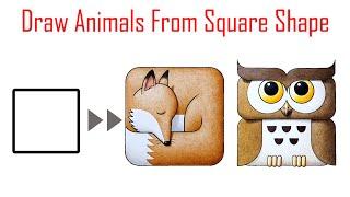 도형으로 귀여운 동물 쉽게 그리기|Drawing a f…