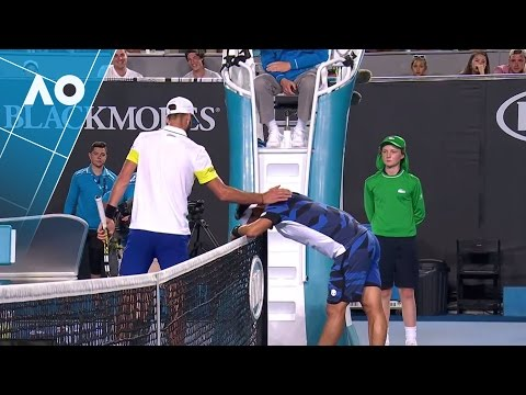 Paire stops Fabio Fognini from blowing his lid | Australian Open 2017