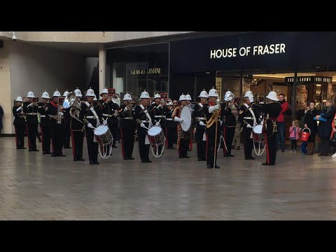 The Band of HM Royal Marines Plymouth - Bristol Poppy Day - Second Display