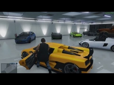 grand theft auto v michael 39 s full custom 4 car garage 500k youtube. Black Bedroom Furniture Sets. Home Design Ideas