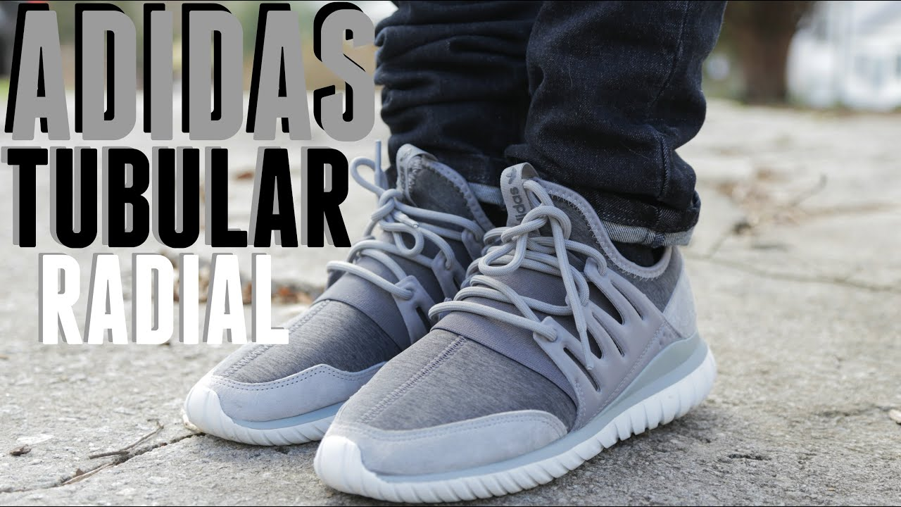 Adidas Men 's Tubular Radial Running Shoe Running