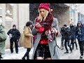street style fashion week in winter