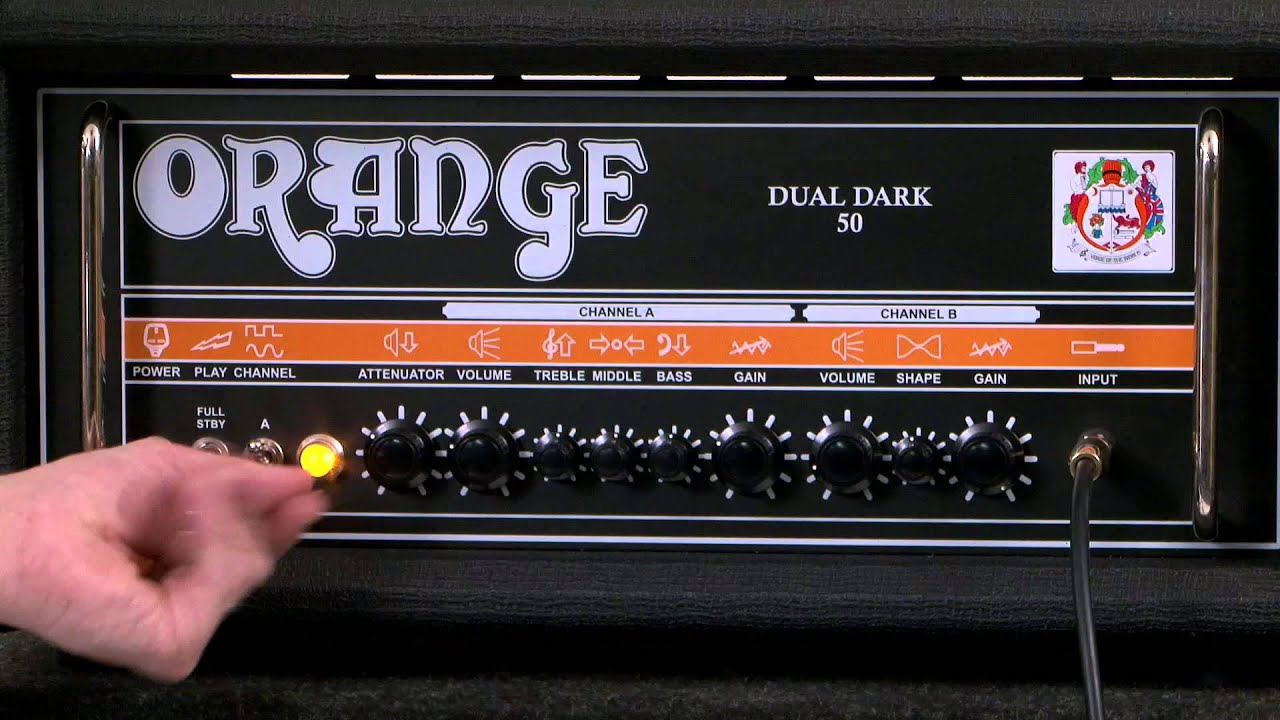 orange amplification dual dark 50 guitar amp youtube. Black Bedroom Furniture Sets. Home Design Ideas