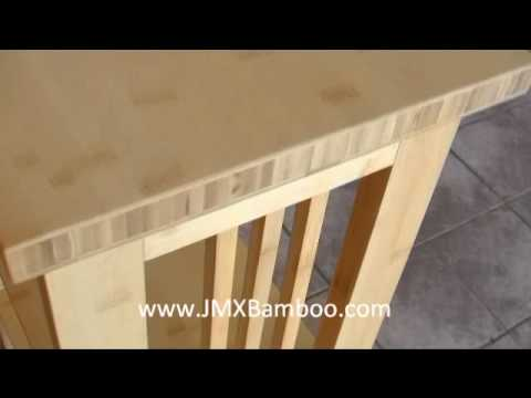 Mission Style Solid Bamboo Bookcase
