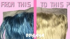 REMOVING DYE FROM A 613 LACE FRONTAL? | BBYLAYA