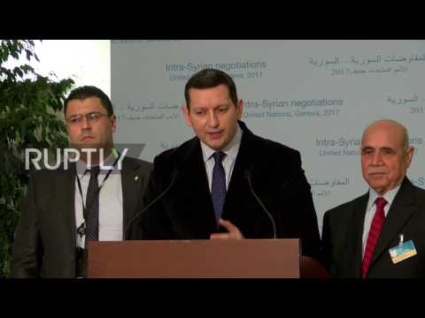 Switzerland: Cairo platform of Syrian opposition calls for 'single' delegation at peace talks