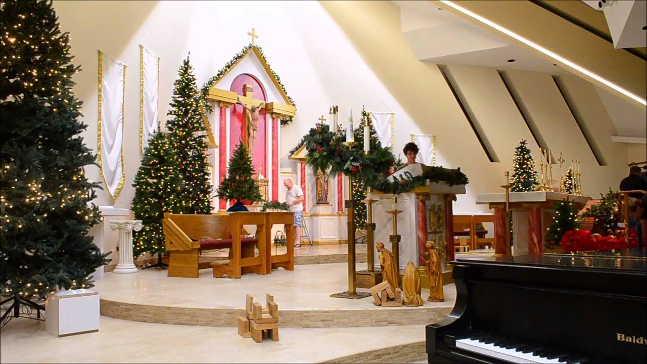 resurrection catholic church christmas decorations 2015 youtube - Christmas Church Decorations
