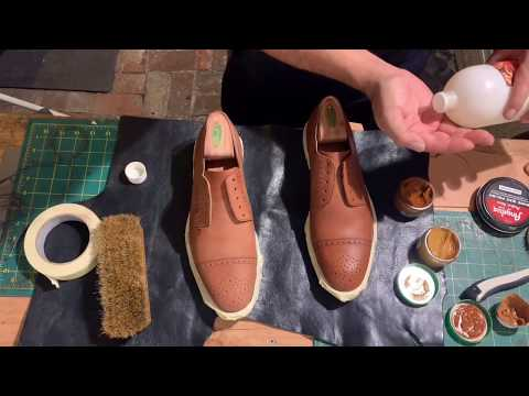 ASMR  how to clean and restore your old shoes