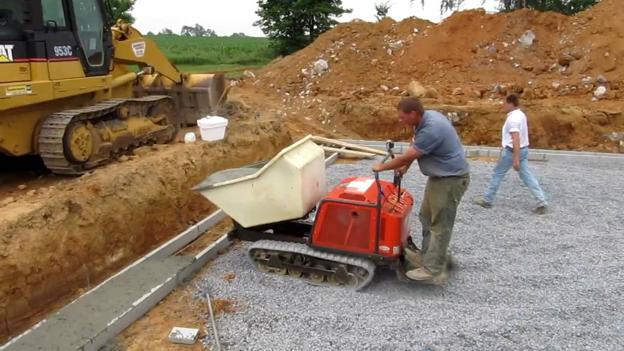 Track Concrete Buggy