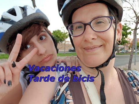 Empezamos vacaciones , tarde de bicicleta con Tere