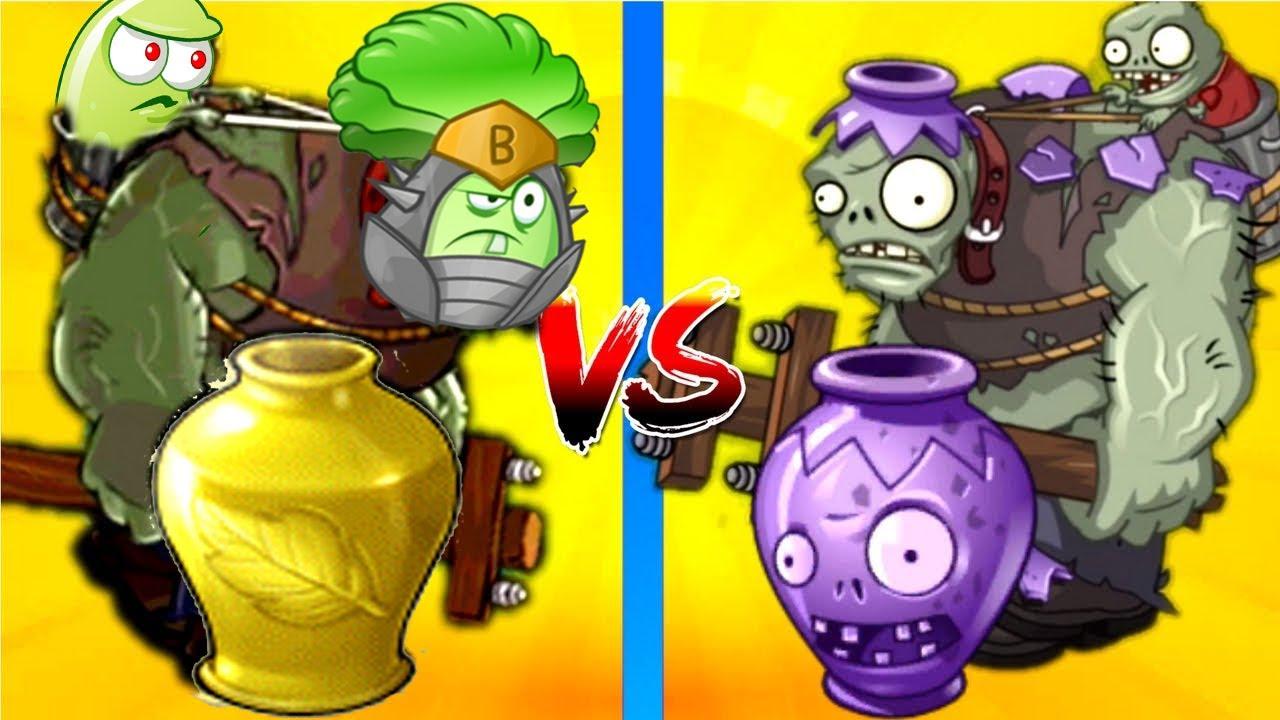Plants vs Zombies 2 Hack 100% Vasebreaker  Bonk Choy vs Gargantuar