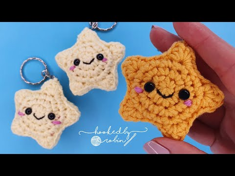 Crochet Amigurumi Star Keychain / Christmas Decoration ⭐