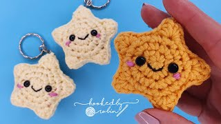 Crochet Amigurumi Star Keychain / Christmas Decoration ⭐