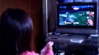 娘の結界師(Wii)挑戦風景w 部屋汚ねぇ~ww.