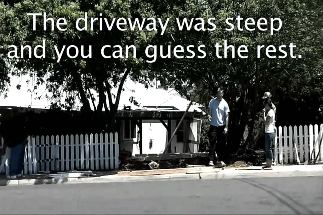 broken fence repair mini cooper car accident comedy funny youtube