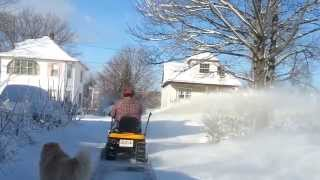 cub cadet lawn tractor with snow blower sun 19 jan 13 part 1