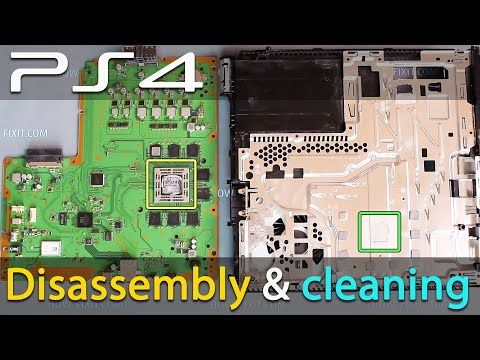 Disassembly PS4 cleaning and replace thermal paste