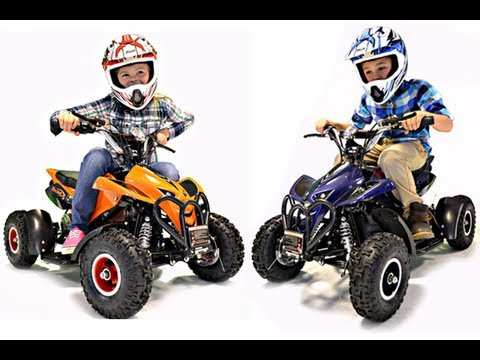 Kids 36v Electric Ride On Quad Bike Youtube