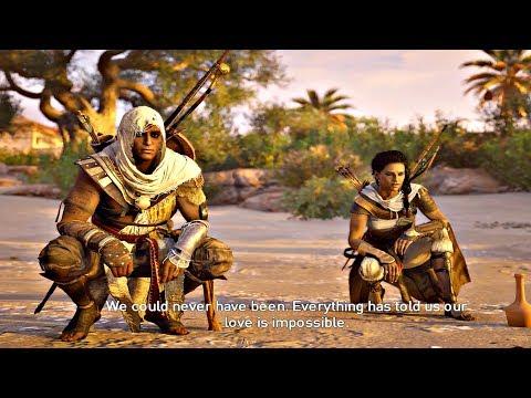 Assassin's Creed Origins - Bayek + Aya Speaking Last Time & Birth of Assassins Creed