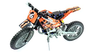Lego Technic 42007 Moto Cross Bike Speed Build And Review