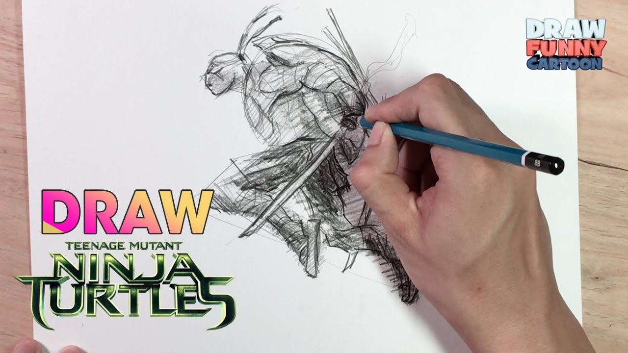 how to draw leonardo from ninja turtles out of the shadows youtube