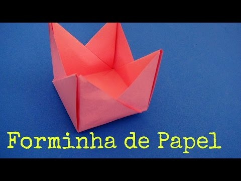 Forminha de papel para doces origami youtube - Papel de vinilo para cocinas ...