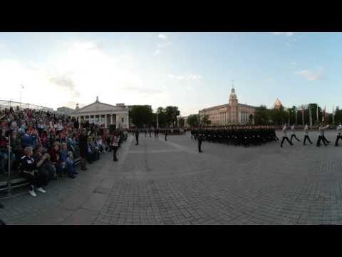 Панорамное видео: Генеральная репетиция Парада Победы в Воронеже 7 мая 2017