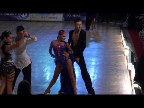 Nikita Olinichenko - Elizaveta Pustornakova RUS European Champ Latin Youth 1/2 Samba
