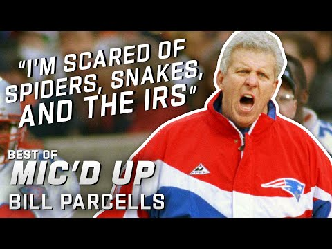 """""""I'm Scared of Spiders, Snakes, and the IRS"""" Best of Bill Parcells Mic ..."""