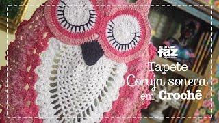 Tapete Coruja Soneca em Crochê (Diane Gonçalves)