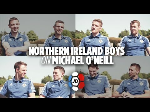 Northern Ireland Boys On Manager Michael O'Neill