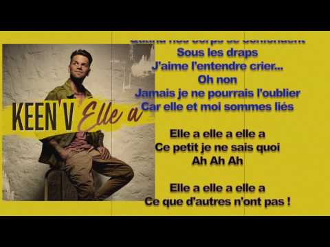Keen'V - Elle a ( video lyrics officiel )