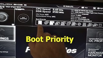 How to Boot the PC from a different device (MSI B350, sept.2017 BIOS )