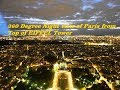 360 Degree Night view of Paris from Top of EIFFEL Tower