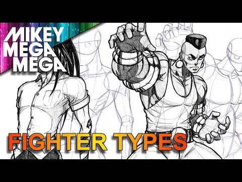 How To Draw BASIC FIGHTERS TYPES FOR ANIME MANGA