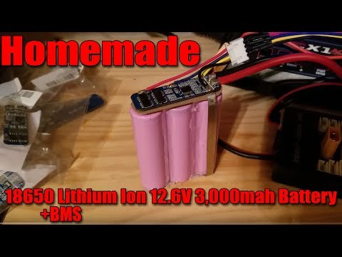 Homemade 18650 Lithium Ion 12.6V 3,000mah Battery pack w/BMS