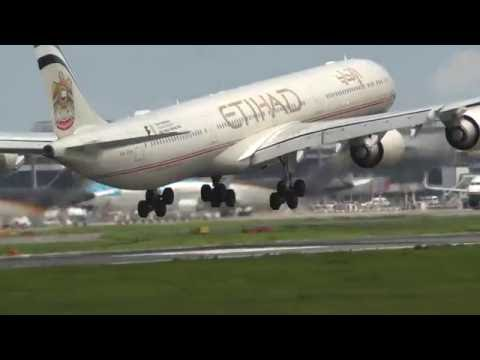 Etihad A340 and others Landing & Taking off Narita Airport w