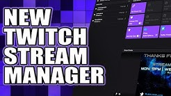 Twitch New Stream Manager Navigation