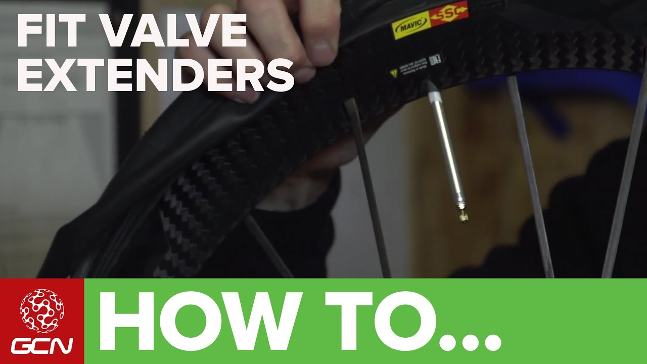 how to fit valve extenders road bike maintenance [ 1280 x 720 Pixel ]