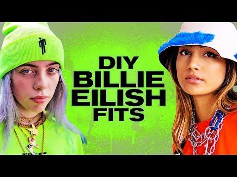 $50 DIY Fits Inspired by Billie Eilish! ~ NAYVA Ep #34 ~ FASHION & BEAUTY - Видео онлайн