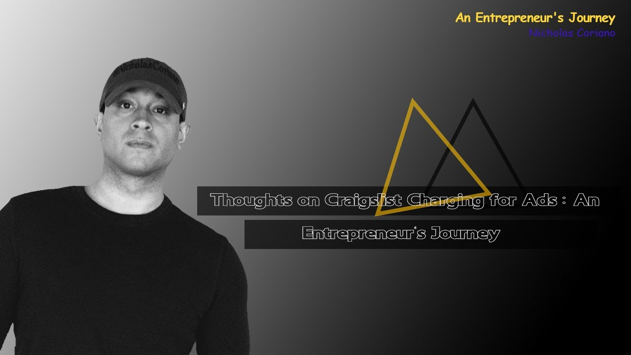 Thoughts on Craigslist Charging for Ads : An Entrepreneur ...