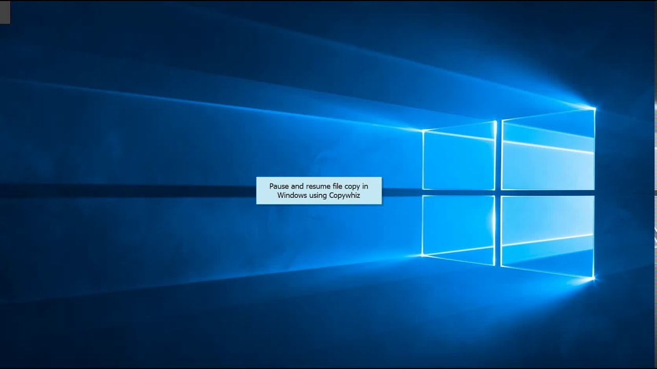 Windows: Pause and resume file copy using Copywhiz