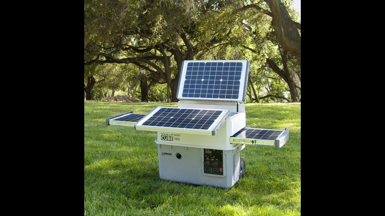 wagan tech solar e power cube 1500 (#2546) (spanish version) - youtube