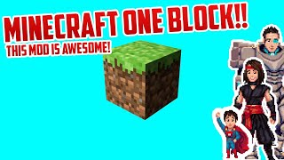 Minecraft but with ONE BLOCK