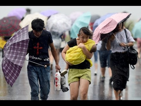 Typhoon lashes China's east coast, 14 dead and four missing  Xinhua
